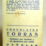 Colección cromos CHOCOLATES TORRAS