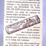 Estampa Sta. Rosa de Lima PÍLDORAS del DR. ROSS