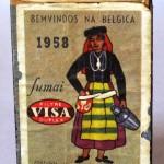 Caja de cerillas tabacos VISA