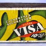 Caja de cerillas VISA