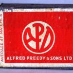 Caja de cerillas ALFRED PREEDY & SONS